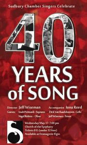 40th Anniversary Concert Poster